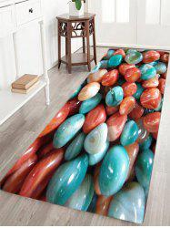 Colorful Agate Stone Pattern Slow Rebound Water Absorption Area Rug