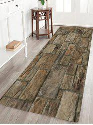 Vintage Stone Floor Pattern Water Absorption Slow Rebound Area Rug - GRAY