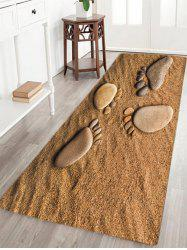 Beach Footprint Pattern Slow Rebound Water Absorption Area Rug
