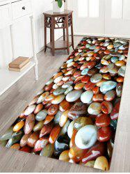 Colorful Sea Stone Pattern Slow Rebound Water Absorption Area Rug