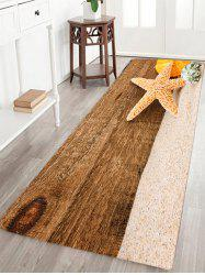 Beach Starfish Pattern Slow Rebound Water Absorption Area Rug