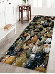 Sea Stone Pattern Slow Rebound Water Absorption Area Rug - COLORMIX