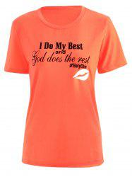 Short Sleeve Letter Print T Shirt