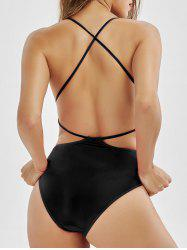 Cross Back Low Back Swimsuit