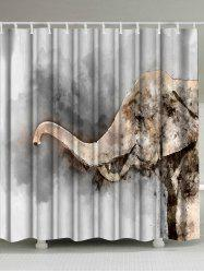 Watercolor Elephant Waterproof Shower Curtain
