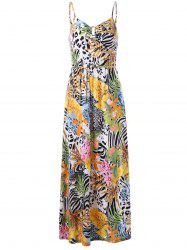 Cami Tropical Bohemian Maxi Dress - COLORMIX