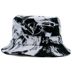 Smoke-Filled and Letters Print Bucket Hat