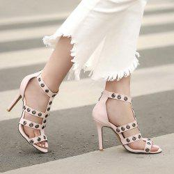 Eyelets T Bar Zipper Sandals