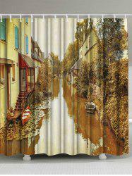 Scenic Town Fabric Shower Curtain Bath Decoration