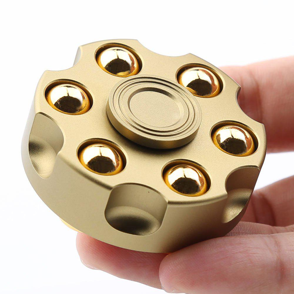 7 Mins Rotating Revolver Shape Fidget Metal Spinner Fiddle ToyHOME<br><br>Color: GOLDEN; Products Type: Fidget Spinner; Theme: Game; Frame material: Metal; Features: Creative Toy,Detachable; Weight: 0.1550kg; Package Contents: 1 x Fidget Spinner;