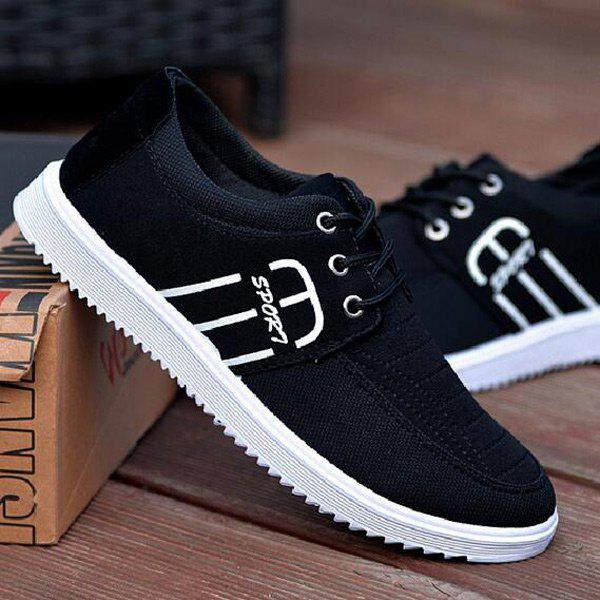 Affordable Tie Up Stitching Breathable Casual Shoes