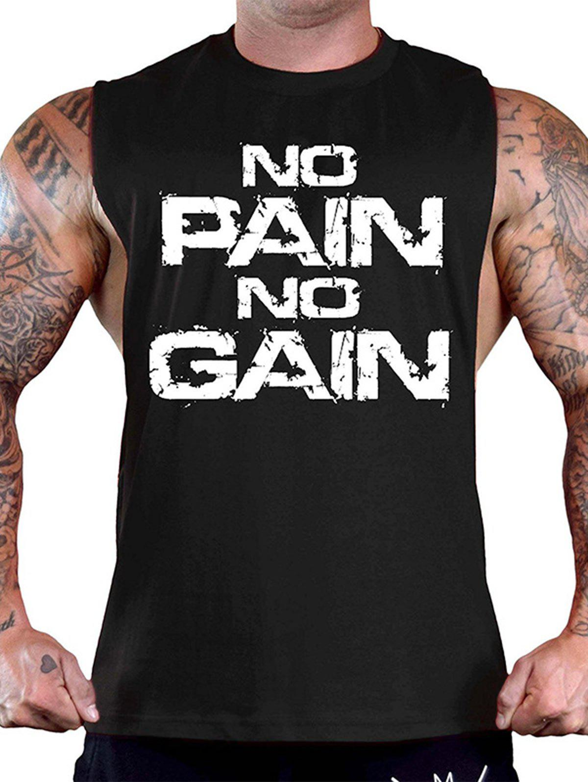 Fancy No Pain No Gain Workout Tank Top