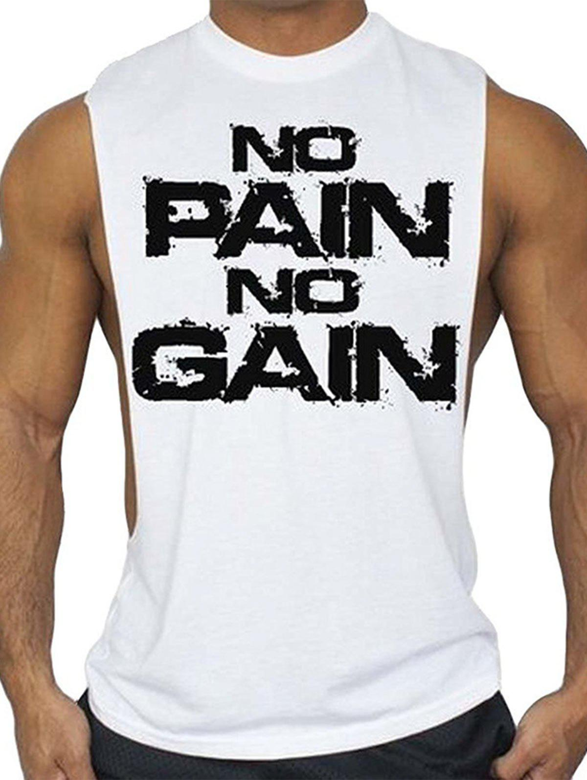 Store No Pain No Gain Workout Tank Top