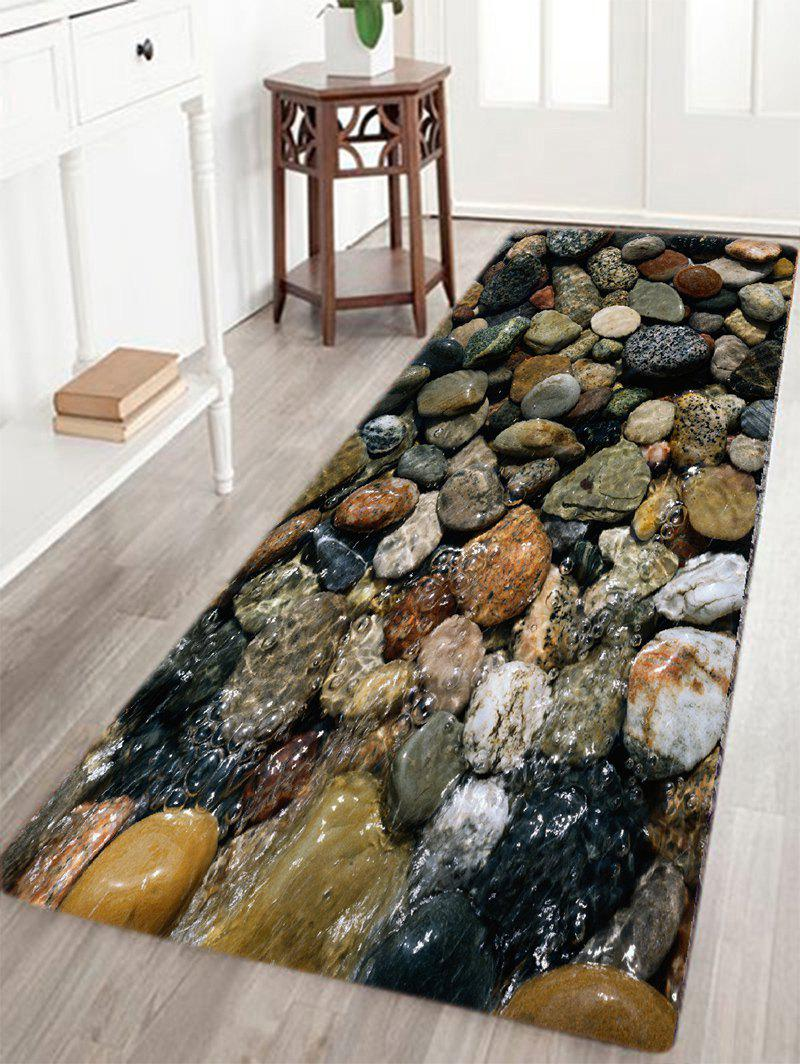 Sea Stone Pattern Slow Rebound Water Absorption Area RugHOME<br><br>Size: W16 INCH * L47 INCH; Color: COLORMIX; Products Type: Bath rugs; Materials: Flannel; Style: Beach Style; Shape: Rectangle; Package Contents: 1 x Area Rug;