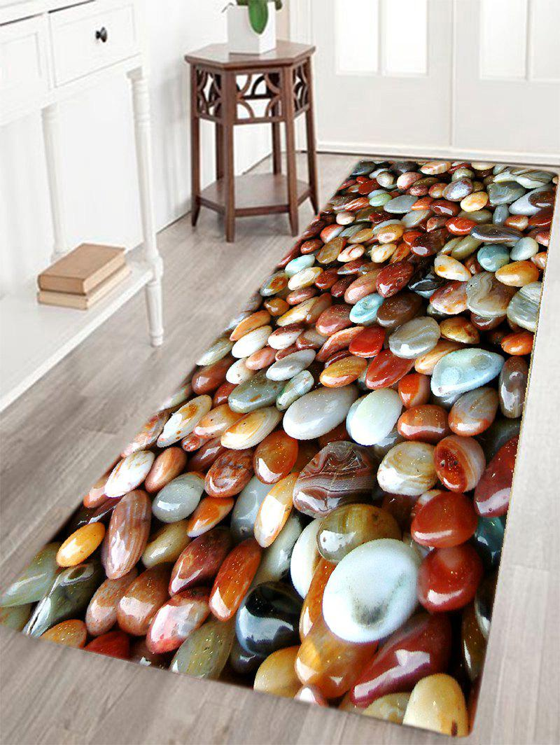 Colorful Sea Stone Pattern Slow Rebound Water Absorption Area RugHOME<br><br>Size: W16 INCH * L47 INCH; Color: COLORMIX; Products Type: Bath rugs; Materials: Flannel; Style: Beach Style; Shape: Rectangle; Package Contents: 1 x Area Rug;