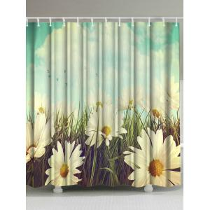 Thicken Pastoral Flower Anti-bacteria Shower Curtain - Colormix - W71 Inch * L79 Inch