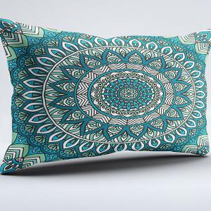 Bohemian Style Flower Brushed Fabric Pillow Case