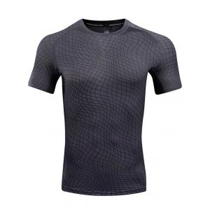 Irregular Plaid Pattern Quick Dry Sport T-shirt