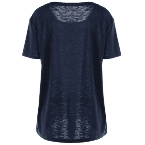 Plus Size Ombre Butterfly Print T-shirt - BLUE 5XL