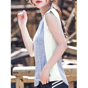 Two Tone Sleeveless Sports Top -
