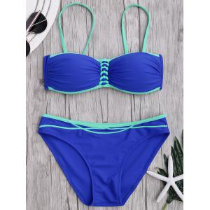 Two Tone Push Up Bikini Set