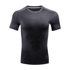 Breathable Quick Dry Color Block Sport T-shirt