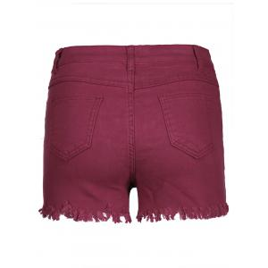 Shorts denim à bas prix - Rouge vineux  S