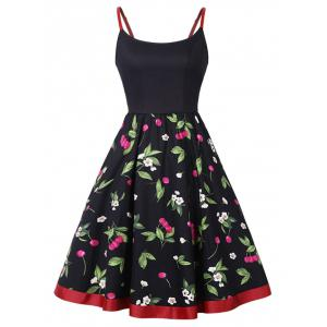 Cherry Print Slip Dress