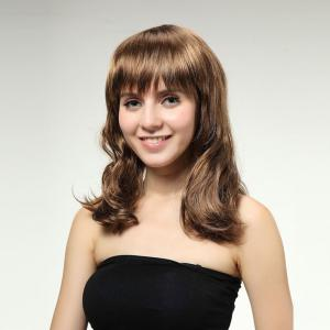 Full Bang Medium Wavy Synthetic Wig
