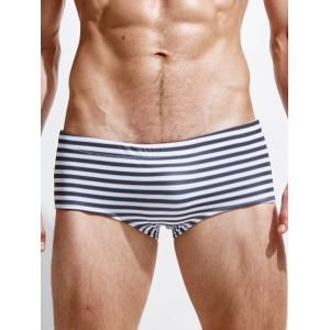 Drawstring Stripe Boxer Swimwear