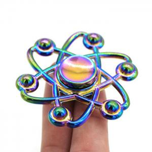 Coloré Floral Fidget Metal Spinner Anti-stress Toy - Multicolore