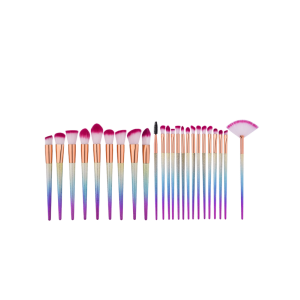24Pcs Ombre Matte Makeup Brushes Set