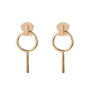 Alloy Circle Drop Earrings