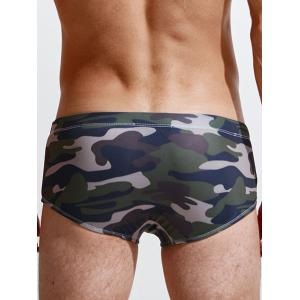 Camouflage Print Swim Trunks - Camouflage XL