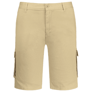 Zip Fly Pockets Bermuda Cargo Shorts - Khaki - 33