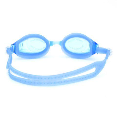 Sale Sports Waterproof Anti Fog Plain Mirrored Swimming Goggles - BLUE  Mobile