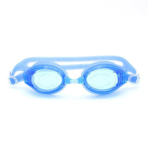 Hot Sports Waterproof Anti Fog Plain Mirrored Swimming Goggles - BLUE  Mobile