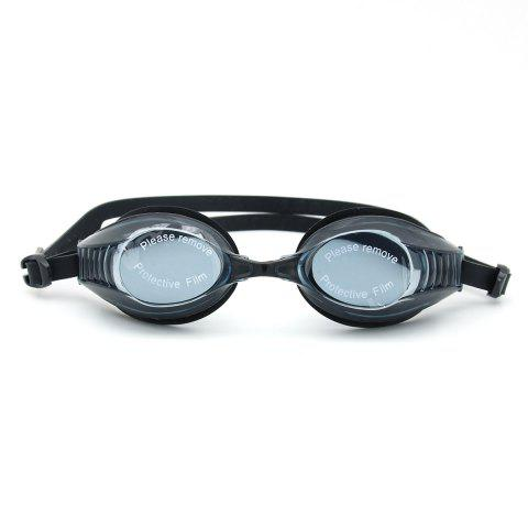 Fashion Sports Waterproof Anti Fog Plain Mirrored Swimming Goggles - BLACK  Mobile