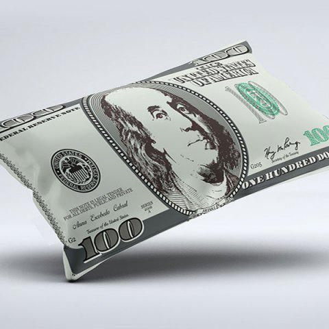 Fashion Brushed Fabric Money Pillow Case with Dollar Print - W20 INCH * L36 INCH COLORMIX Mobile