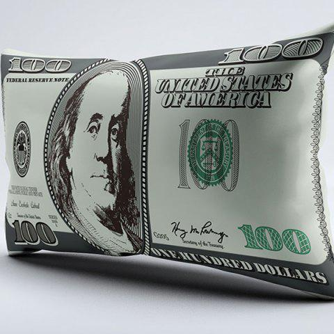 Unique Brushed Fabric Money Pillow Case with Dollar Print - W20 INCH * L36 INCH COLORMIX Mobile