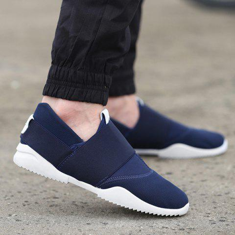 Stretch Fabric Breathable Elastic Casual Shoes - Deep Blue - 40