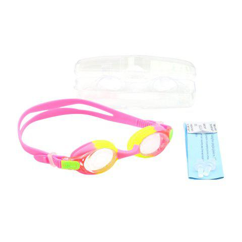 Sale Kids UV Protection Anti Fog Waterproof Plain Mirrored Swimming Goggles - PINK  Mobile