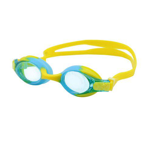 Best Kids UV Protection Anti Fog Waterproof Plain Mirrored Swimming Goggles - YELLOW  Mobile
