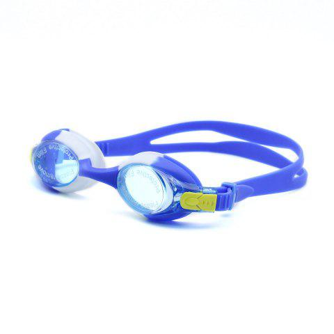 New Kids UV Protection Anti Fog Waterproof Plain Mirrored Swimming Goggles - BLUE  Mobile