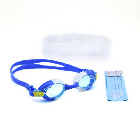 Shops Kids UV Protection Anti Fog Waterproof Plain Mirrored Swimming Goggles - BLUE  Mobile