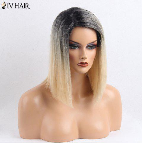 Sale Siv Hair Side Part Medium Straight Colormix Human Hair Wig - COLORMIX  Mobile