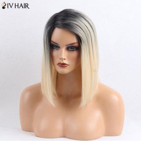 Chic Siv Hair Side Part Medium Straight Colormix Human Hair Wig - COLORMIX  Mobile