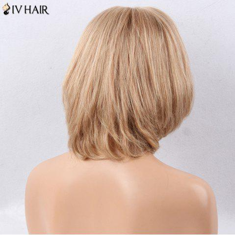 Shops Siv Hair Side Bang Straight Short Bob Human Hair Wig - BROWN WITH BLONDE  Mobile
