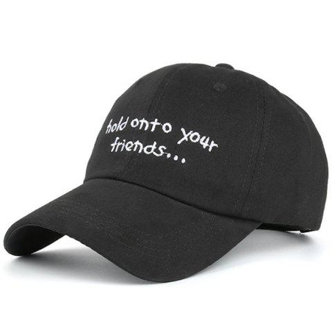 Store Summer Sunproof Letters Embroidered Baseball Hat FULL BLACK