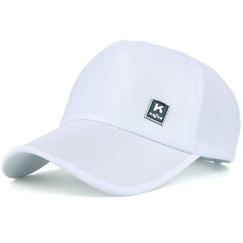 Unique Outdoor Tiny Letter Partten Baseball Hat WHITE